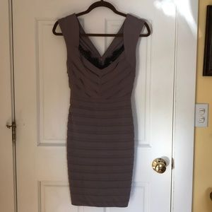 Size 4 taupe/brown bandage cocktail dress
